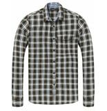 Scotch & Soda Regular fit classic shirt bruin