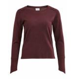 VILA Visentana knit buttom l/s top rood