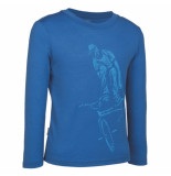 Icebreaker Ls top rider pelorus shirt blauw