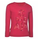Icebreaker Shirt bella tee garden van in de kleur hibiscus roze