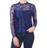 Only Onlgranada lace ls top blauw
