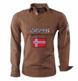 Geographical Norway Heren anorak overhemd slim fit zeclass bruin