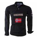 Geographical Norway Heren anorak overhemd slim fit zeclass zwart
