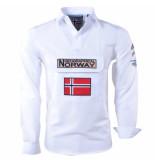 Geographical Norway Heren anorak overhemd slim fit zeclass wit