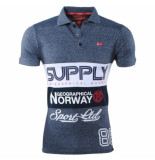 Geographical Norway Heren polo supply karchie blauw