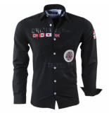 Geographical Norway Heren overhemd slim fit zoliday zwart