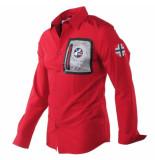 Geographical Norway Heren overhemd borstzak slim fit zitor rood