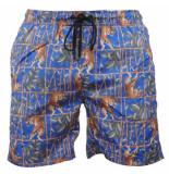 Hite Couture Heren zwembroek tijger zermer blauw