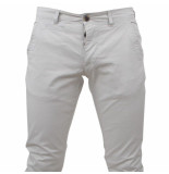 Paname Brothers Heren chino slim fit stretch john lengte 34 grijs