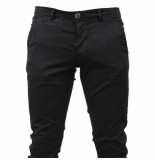 Paname Brothers Heren chino slim fit stretch john lengte 34 zwart