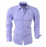 Pradz 2018 Heren overhemd slim fit paars