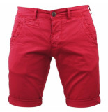 Paname Brothers Heren short bahamas slim fit rood