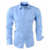 Pradz 2018 Heren overhemd slim fit licht blauw