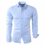Ferlucci Linnen heren overhemd slim fit roma licht blauw