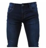 Indicode Heren jeans pittsburg lengte 34 white wash denim blauw