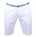 Biaggio Jeans Heren korte broek faniel white wit