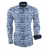 Dom Tower Heren overhemd gestippeld slim fit wit