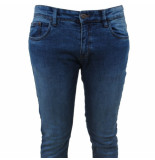 Indicode Heren jeans slim fit stretch lengte 34 pittsburgh denim blauw