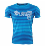 Hedricy Exclusive Heren tshirt ronde hals stretch future blauw