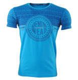 Hedricy Exclusive Heren tshirt ronde hals stretch urban blauw
