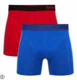 Bamboo Basics 2pack heren boxershorts rood navy blauw