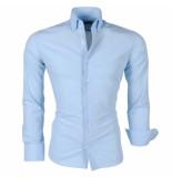 Montazinni Trendy italiaans overhemd blauw