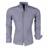Montazinni Trendy italiaans overhemd grijs