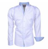 Brentford and Son Ongetailleerd heren overhemd met 2knoops kraag model 2 wit