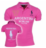 Montazinni Heren polo met korte mouwen argentina polo legends roze