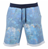 Young Wild & Free Trendy heren full print sweat short bird blauw