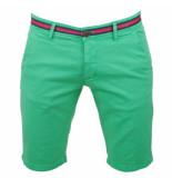 Biaggio Jeans Heren korte broek faniel vert groen