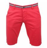 Biaggio Jeans Heren korte broek faniel red rood