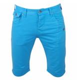 Biaggio Jeans Heren korte broek framor licht blauw