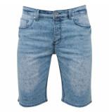 Biaggio Jeans Heren korte broek feratel denim blauw