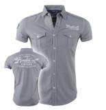 Rivaldi Heren overhemd korte mouwen rv urban grijs