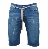 Rivaldi Heren bermuda ri03101 denim damaged look blauw