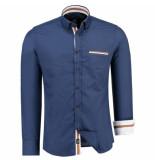 Jeel Heren overhemd 6515005 blauw