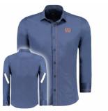 Jeel Heren overhemd suede details blauw