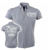 Rivaldi Heren overhemd korte mouwen rv ursul grijs