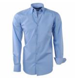 Brentford and Son Heren overhemd design in de kraag licht blauw