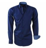 Brentford and Son Heren overhemd design in de kraag blauw