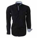 Brentford and Son Heren overhemd design in de kraag zwart