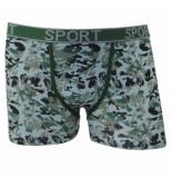 Uomo Heren boxershort camouflage groen