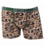 Uomo Heren boxershort camouflage licht bruin