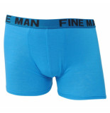 Fine Man Heren boxershort effen blauw