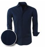Chamberlain Heren overhemd met blauw motief