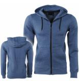 Dissident Trendy heren vest met capuchon dryden blauw