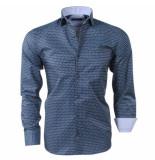 rVvaldi Heren overhemd trendy design grijs