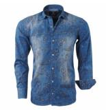 rVvaldi Heren overhemd paisley design blauw