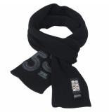 Crosshatch Swank trendy fijn gebreide heren sjaal zwart